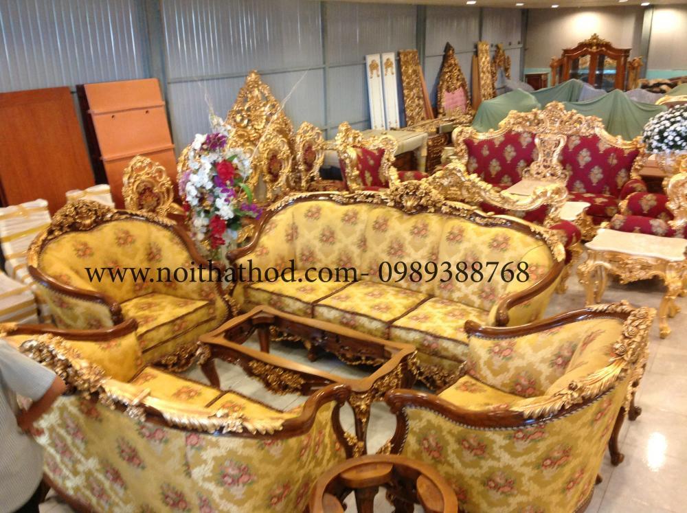Ảnh: Hình ảnh sản xuất đồ gỗ nội thất - Dát vàng